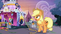 Applejack sighing with satisfaction S7E9