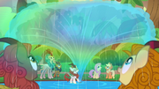 Autumn Blaze making rainbows S8E23