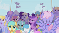 Crowd cheering for Rainbow Dash S1E03.png