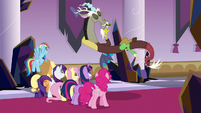 Discord appears eating a pickle S9E2