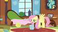 Fluttershy drops paper in the trash S6E11.png