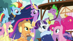 Future Mane Six and Spike in Ponyville S9E26