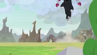 Lord Tirek leaping toward Somnambula S9E24