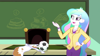 Principal Celestia gestures toward the chalkboard SS8