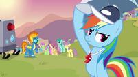 Rainbow Dash holding her cap S2E22