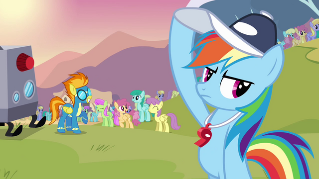 File:Rainbow Dash holding her cap S2E22.png
