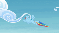 Rainbow flying after Twilight S4E26