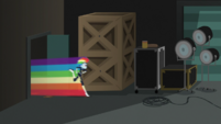 Rainbow speeds into the studio storage area EGS2