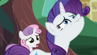 Rarity attempts to suppress her anger S2E05