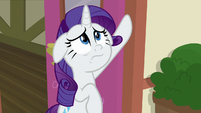 Rarity watching Spike leave with Gabby S9E19