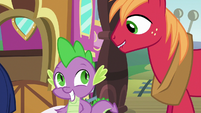 Spike and Big Mac in much anticipation S6E17
