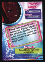 Tempest Shadow MLP The Movie trading card back