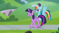 Twilight walks away from Rainbow Dash S9E15