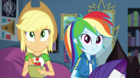 Applejack and Rainbow look at Twilight's equation EGDS6