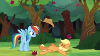 Applejack falls onto the ground S6E18