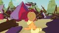 Applejack in front of destroyed barn S03E08.png