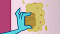 Ember smears Derpy's muffin on a wall S7E15.png