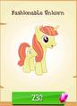 Fashionable Unicorn MLP Gameloft.png