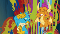 Gallus and Smolder cover their eyes S9E3