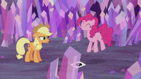 Pinkie Pie jumps up and down S5E20