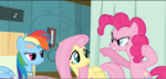 Pinkie Pie trying to scare Dash S2E16