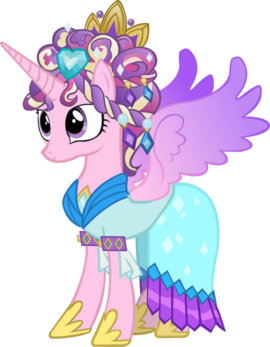 Princess cadence with ceremonial headdress by hampshireukbrony-d5ug8v1