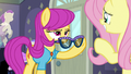 Pursey Pink glancing at Fluttershy S8E4.png