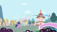 Rainbow Dash flies by S1E01