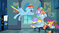"Rainbow Dash shouting ""too much!"" S7E7.png"