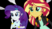 Rarity and Sunset Shimmer worried about Twilight EGS3