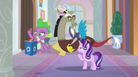Starlight Glimmer telling Discord to leave S8E15