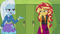 Sunset and Trixie walk away from the lockers EGFF.png