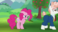 Svengallop walking away from Pinkie Pie S5E24