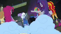 Trixie sets off a smoke bomb EG2