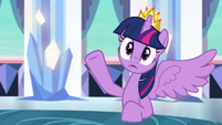 Twilight interrupted by Celestia S4E25