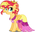 AU Princess Sunset in her gala dress by xebck.png