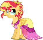 AU Princess Sunset in her gala dress by xebck