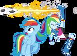 Rainbow dash and rainbow dash by hampshireukbrony