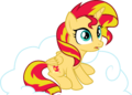 Princess Sunset Sitting on a Cloud by TheShadowStone.png