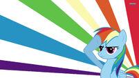 Rainbow Dash saluting