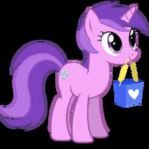 Sparkler holding a bag in her mouth