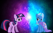 Twilight Sparkle and Trixie wallpaper