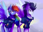 A Pair of Wonderbolt Captains by AnimeLAbg