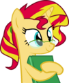 Nerd Sunset Shimmer by Elsia-pony.png
