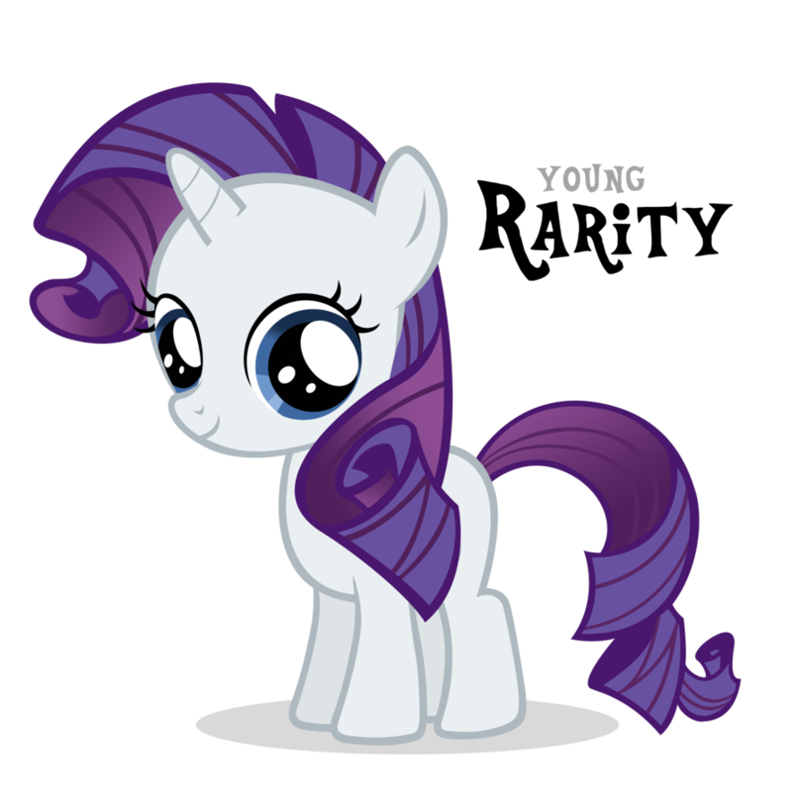 Image - Rarity Filly by Blackm3sh.png | My Little Pony Fan Labor ...