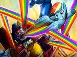 Death battle Rainbow vs Starscream