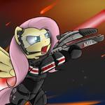 Fluttershy's space suit