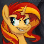 Square Series Sunset Shimmer by sophiecabra