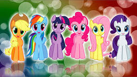 Mane 6 bubble wallpaper