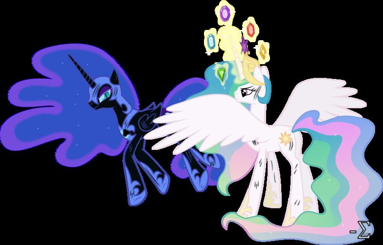 Image Princess Celestia and Nightmare